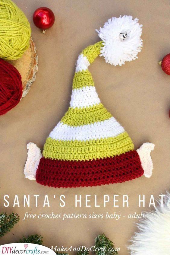 Santa's Helper Hat - DIY Christmas Gifts for Boyfriend