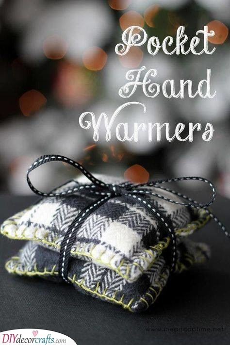 Pocket Hand Warmers - DIY Christmas Gifts for Boyfriends