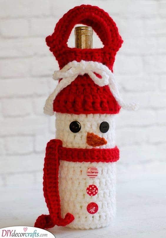 A Wine Bottle Crochet - Christmas Ideas for Boyfriend