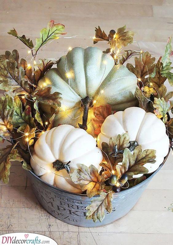A Bucket of Pumpkins - Halloween Pumpkin Decorations