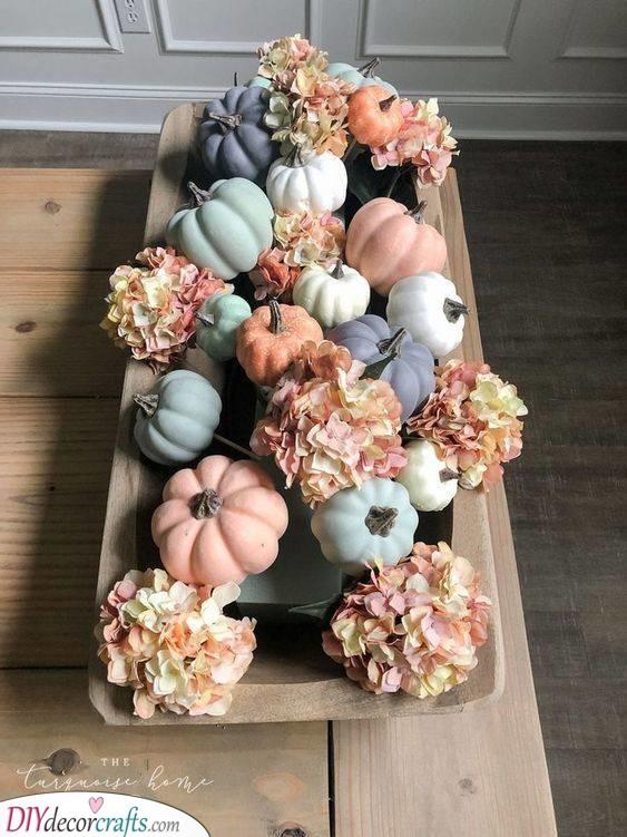 Pastel and Pretty - Creative Pumpkin Decorating Ideas