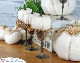 Pumpkins in Goblets - Unique and Rustic