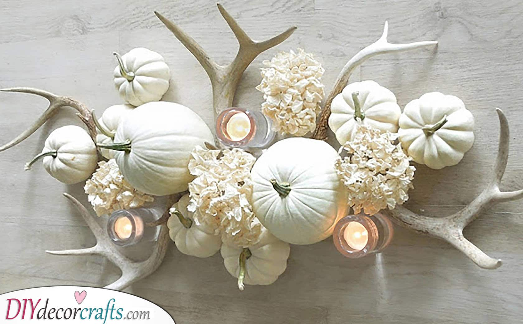 A White Arrangement - Add Some Antlers