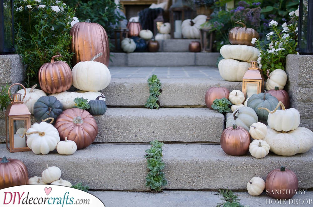 Decorating Your Steps - Halloween Pumpkin Decorations