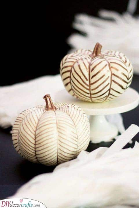 Painting Your Pumpkins - Add a Hint of Gold