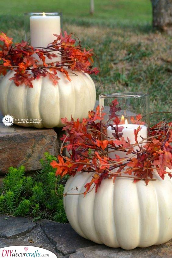 Candle Holders or Pumpkins - An Interesting Idea