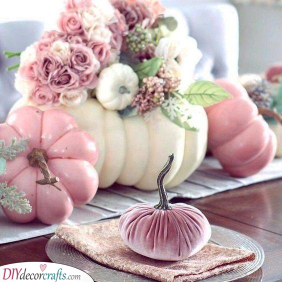 Pretty in Pink - Pumpkin Decorations for Fall