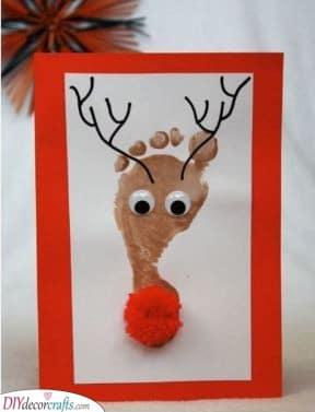 A Footprint – Cute Christmas Card Ideas