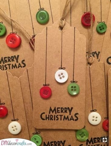 Christmas Ornaments – In the Shape of Buttons