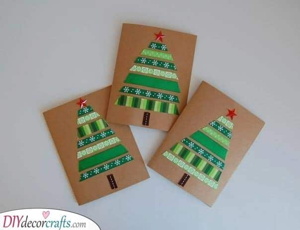 Green and Gorgeous – Homemade Christmas Card Ideas
