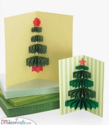 3D Christmas Trees - Handmade Christmas Cards