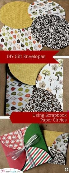 A Stylish Envelope - Using Scrapbook Paper Circles