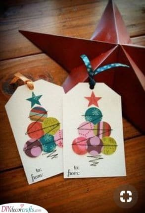 A Cute Christmas Tag - Ornament Inspired