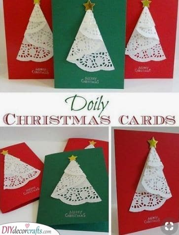 Cake Lace - Easy Christmas Card Ideas
