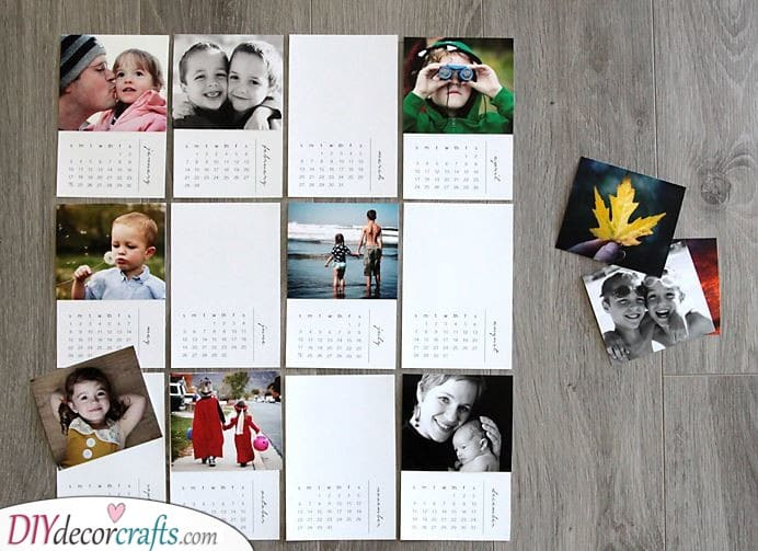A Family Calendar - Happy Moments