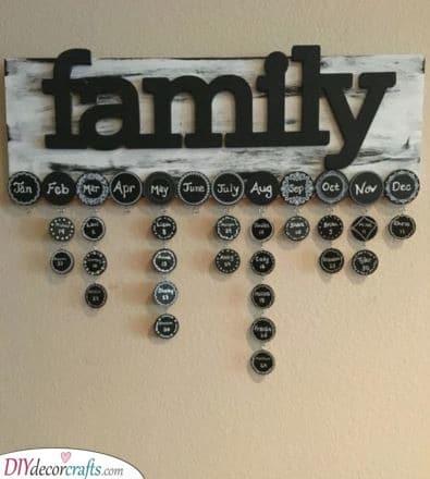 Remembering Birthdays - A Family Calendar