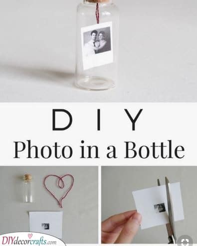 DIY Photo in a Bottle - Cute and Caring