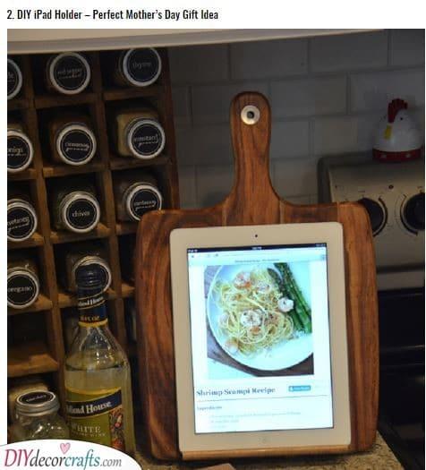A Tablet Holder - Handmade Presents for Mom