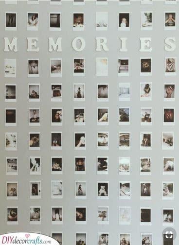 A Wall of Memories - A Plentitude of Polaroids