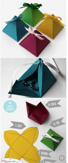 Small Pyramids - Unique Christmas Wrapping Ideas