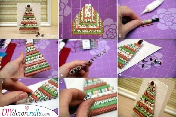 A Cute Christmas Tree - Rolls of Wrapping Paper