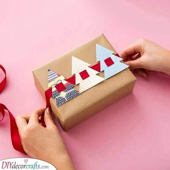 Cute Fir Trees - Christmas Wrapping Ideas