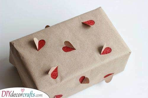 Cute Hearts - Christmas Wrap Gift Ideas