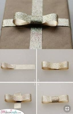 A Sparkly Bow - A Hint of Gold