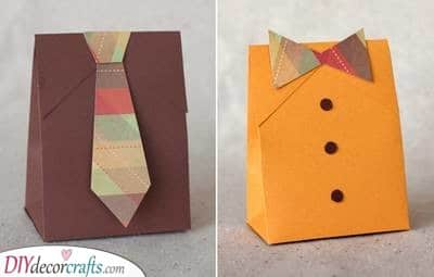 Suit and Tie - Christmas Wrapping Ideas