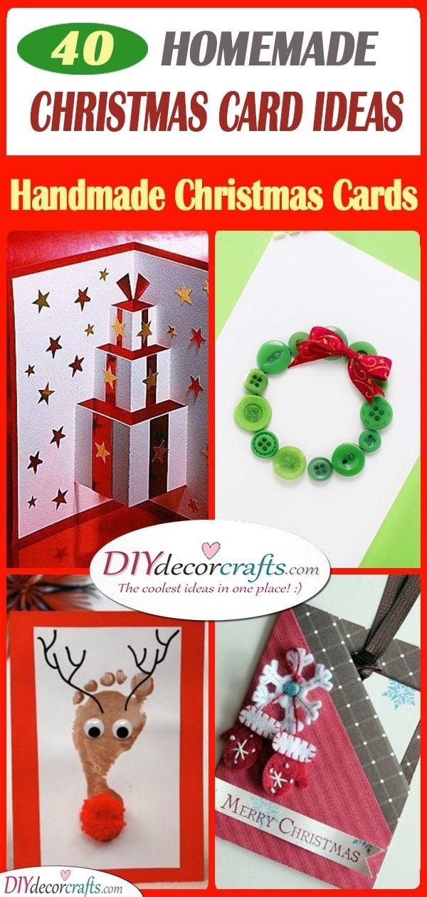 40 HOMEMADE CHRISTMAS CARD IDEAS - Handmade Christmas Cards