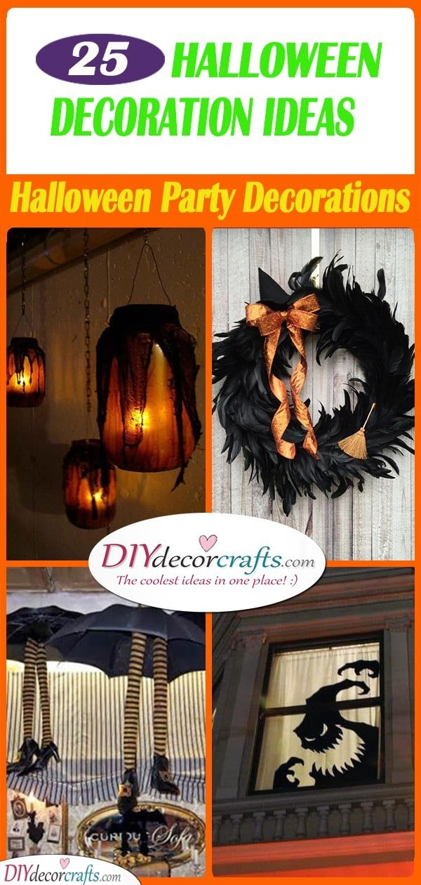 25 CHEAP HALLOWEEN DECORATION IDEAS - Halloween Party Decorations
