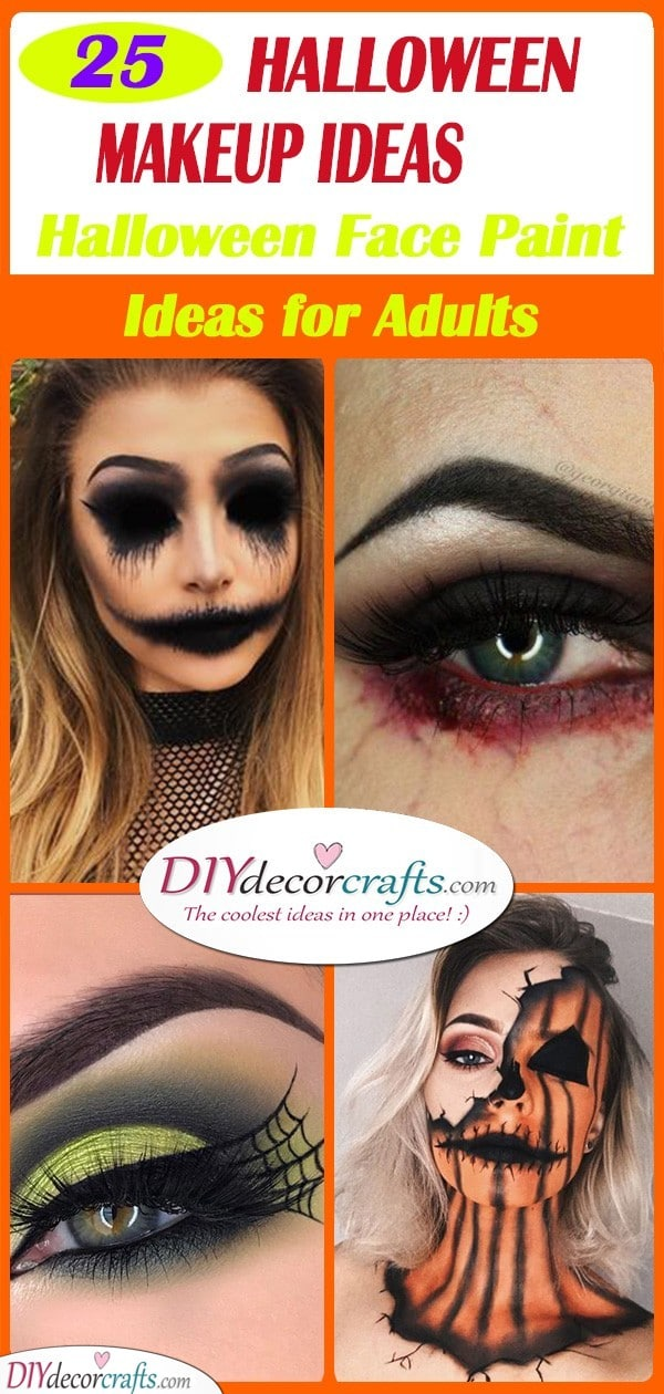 Easy Halloween Makeup Ideas , Halloween Face Paint Ideas for