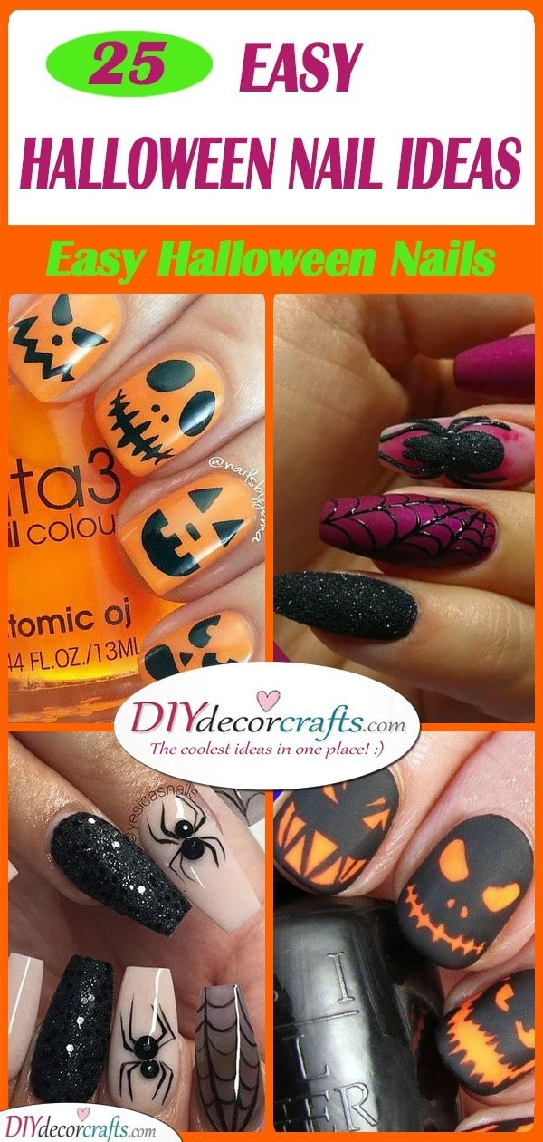25 HALLOWEEN NAIL IDEAS - Easy Halloween Nails