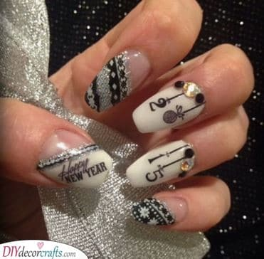 Adding a Wintery Vibe - New Years Nail Ideas