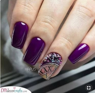 Pretty in Purple - New Years Nail Ideas