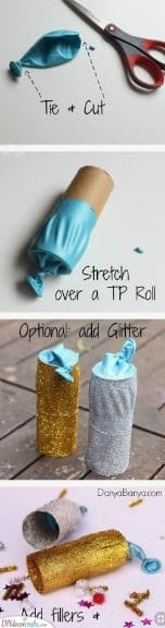 Handmade Party Poppers - Fun and Glittery