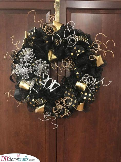 A Festive Wreath - New Years Eve Party Decorations