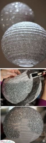 DIY Glittery Globes - Perfect for a Party