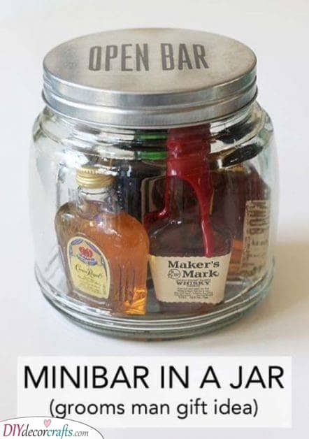 A Minibar in a Jar - Christmas Ideas for Husband