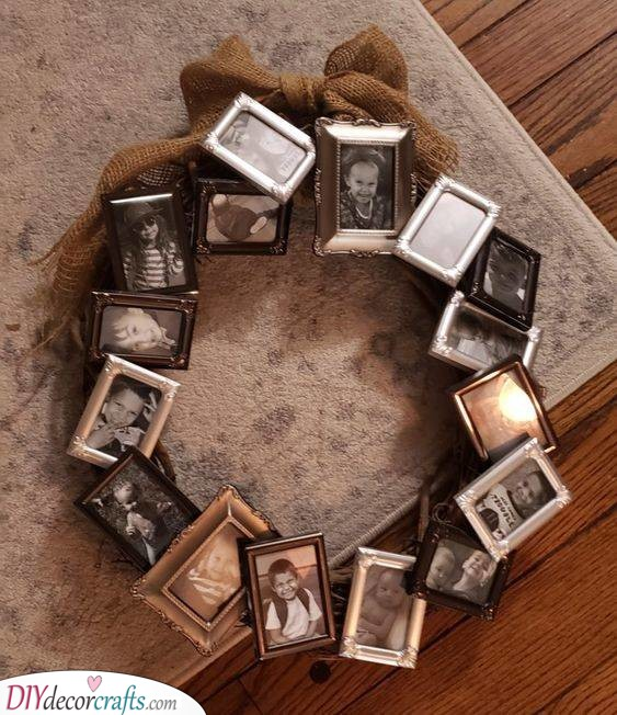 A Wreath of Photos - Personal and Festive