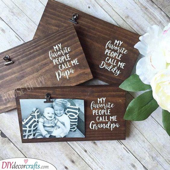 Wooden Board - With a Heartfelt Message