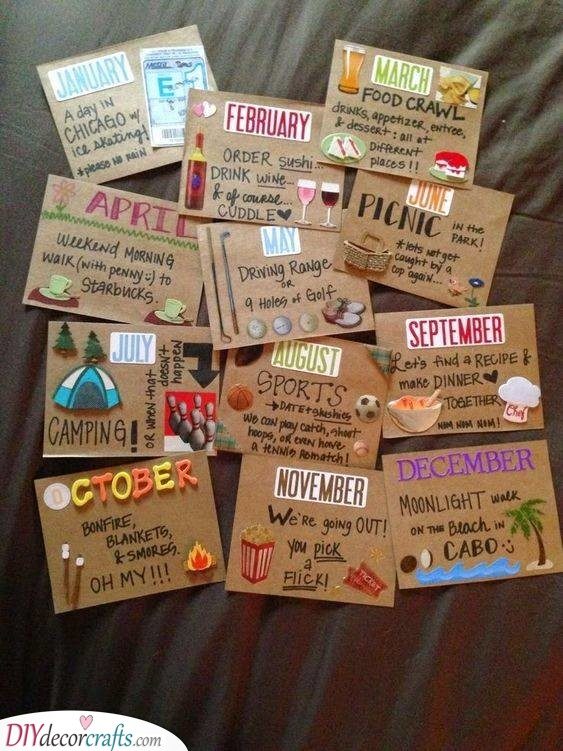 Something Fun for Each Month - Thoughtful and Cute