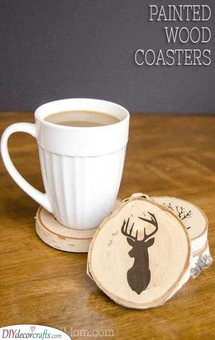 Painted Wood Coasters - Gorgeous and Creative