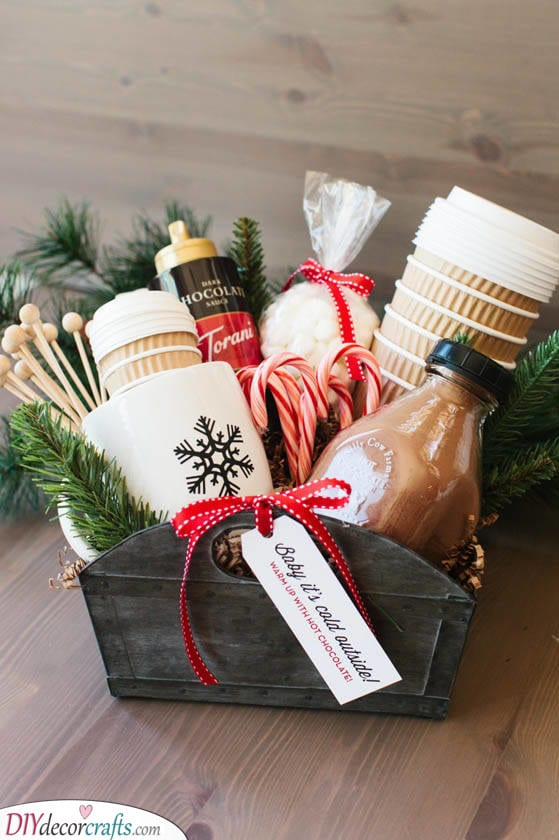 A Bountiful Gift Basket - Christmas Present Ideas for Men