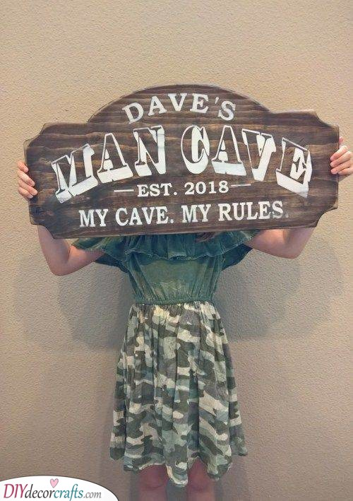 His Cave, His Rules - Christmas Gift Ideas for Him