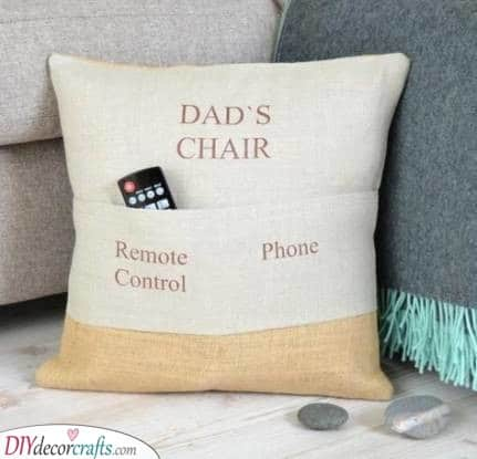 His Chair - With Pockets for Everything Important