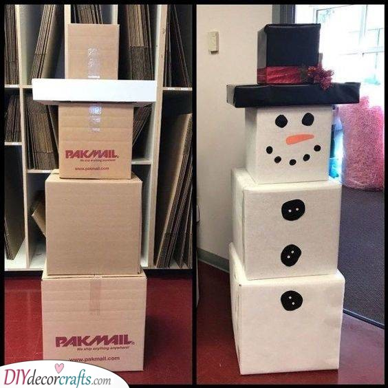 Cute Snowman – Christmas Party Decorations on a Budget