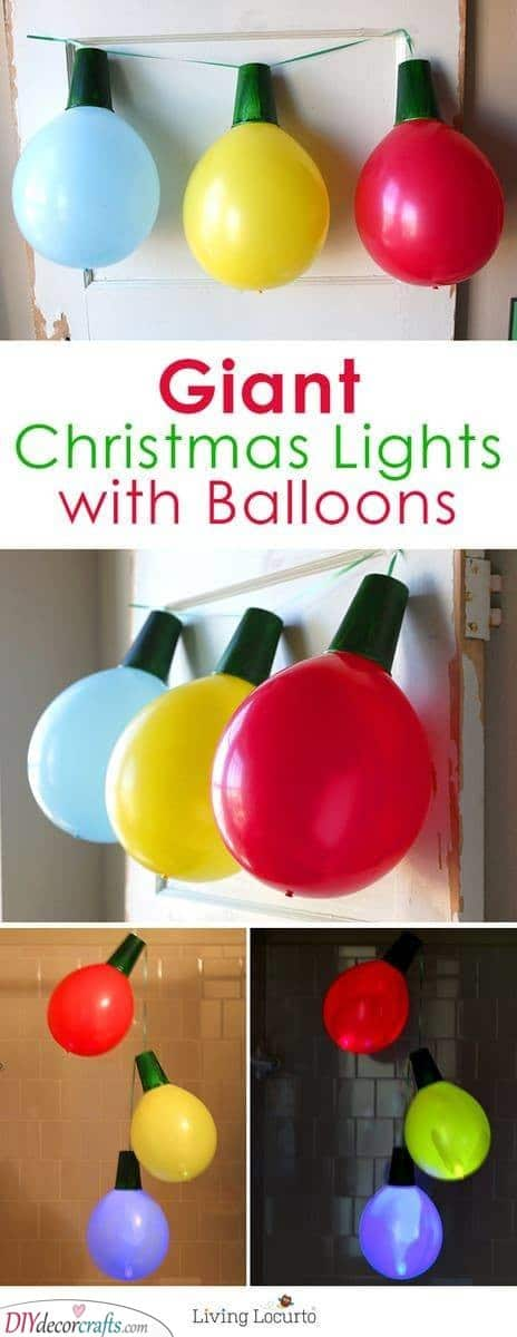 Giant Christmas Lights – Made Out of Balloons