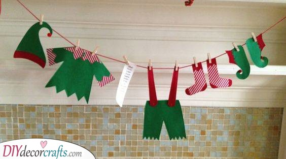 Drying the Elf Clothes – On a Clothesline
