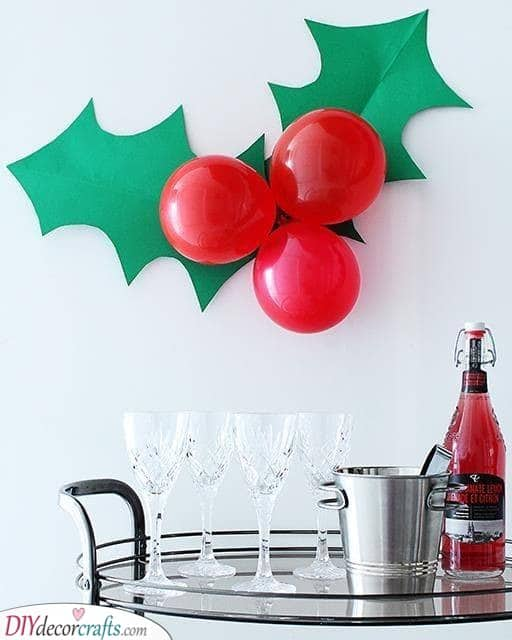 A Branch of Holly – Christmas Party Decoration Ideas